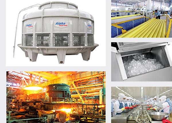 Tháp giải nhiệt nước công nghiệp-water cooling tower chính hãng chất lượng thiết bị công nghiệp sài gòn