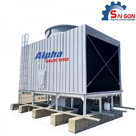 Tháp giải nhiệt alpha vuông 200rt hiệu suất cao thiết bị công nghiệp sài gòn 01